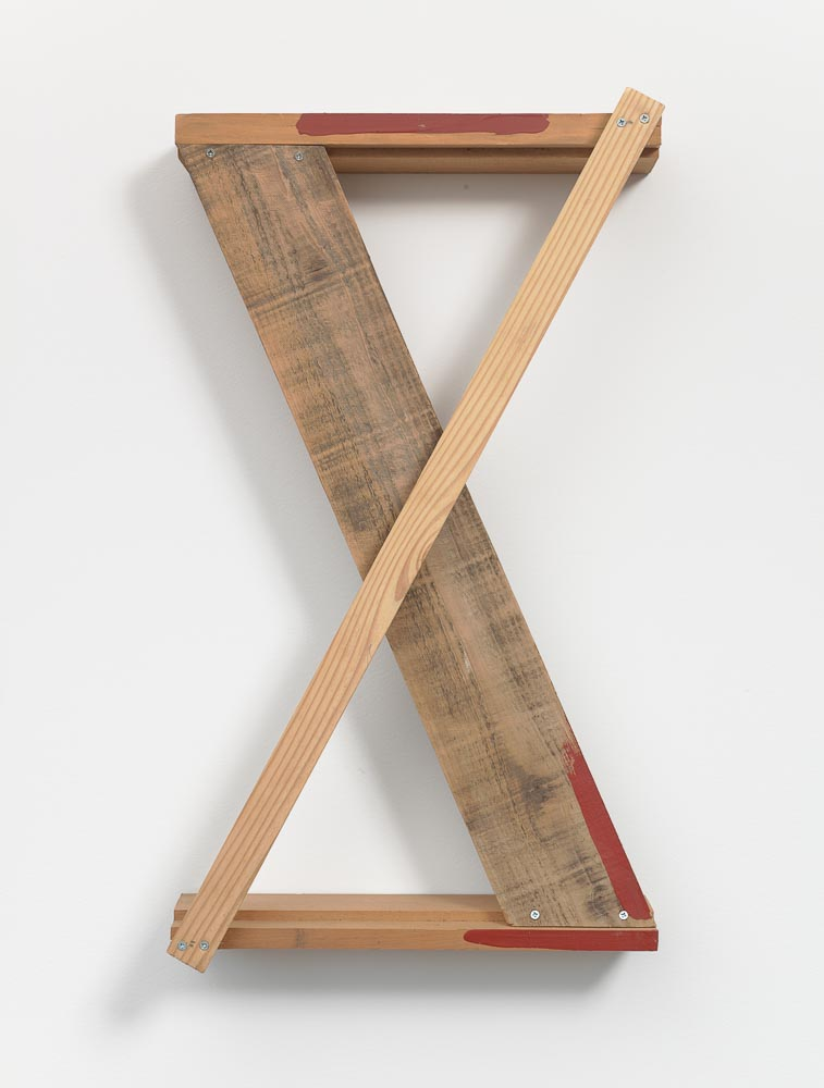 Shrinking Body of Space , 1990 間の縮体 ( Kan no Shukutai ) Plywood, red paint 21 7/8 x 12 1/2 x 3 3/16 inches 55.5 x 31.8 x 8 cm
