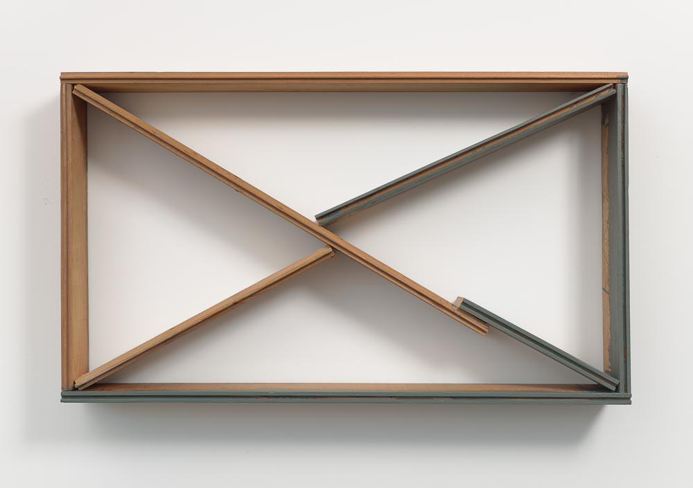 Grafted Space—Z , 1993 継界—Z ( Keikai—Z ) Plywood, gray paint 20 1/4 x 34 3/8 x 4 7/16 inches 51.4 x 87.2 x 11.2 cm