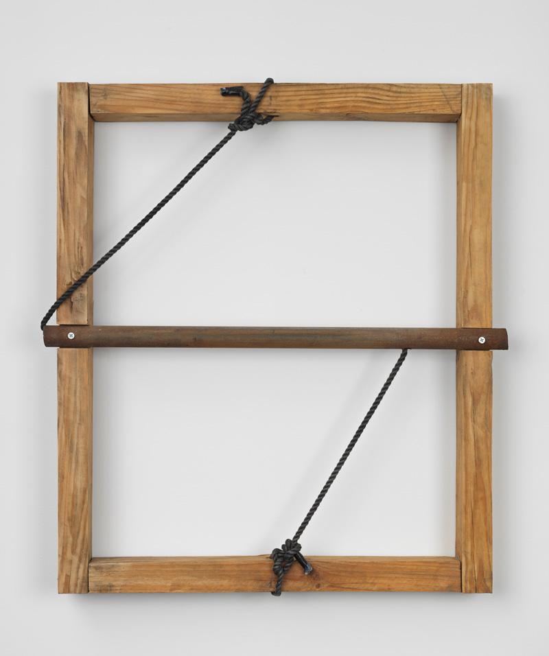 Three Spaces , 1989 辺の前後 ( Hen no Zengo ) Wood on wood, paint 15 x 12 5/8 x 6 1/8 inches 38 x 32 x 15.5 cm