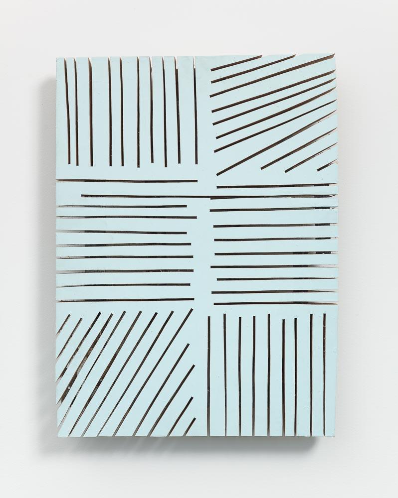 Segmented Edges , 1999 切端 ( Settan ) Wood, paint 17 3/4 x 13 1/8 x 2 1/16 inches 45 x 33.3 x 5.2 cm