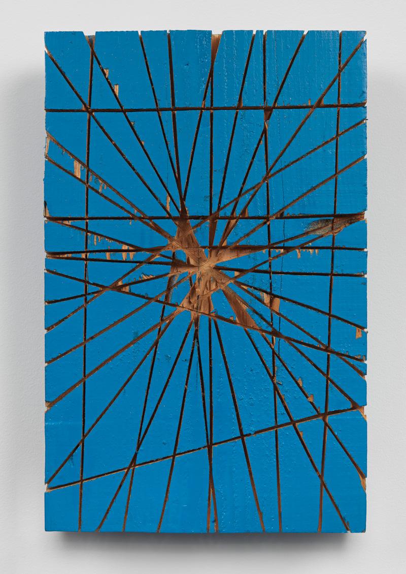 Cluster of Edges , 1997 束端 ( Sokutan ) Wood, paint 14 5/8 x 9 3/8 x 2 11/16 inches 37 x 23.7 x 6.7 cm