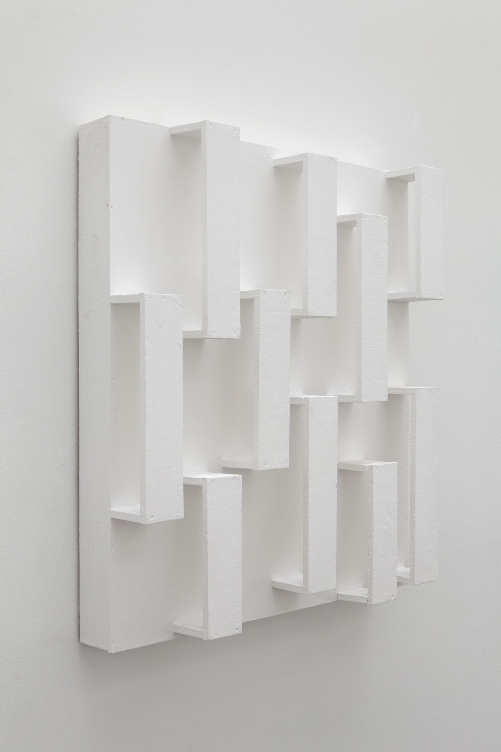 Boundaries and Space in Equivalent Transition , 1992 等過境空 ( Dōka Kyōkū ) Wood, paint 39 1/4 x 35 1/2 x 8 1/8 inches 99.7 x 90.2 x 20.6 cm
