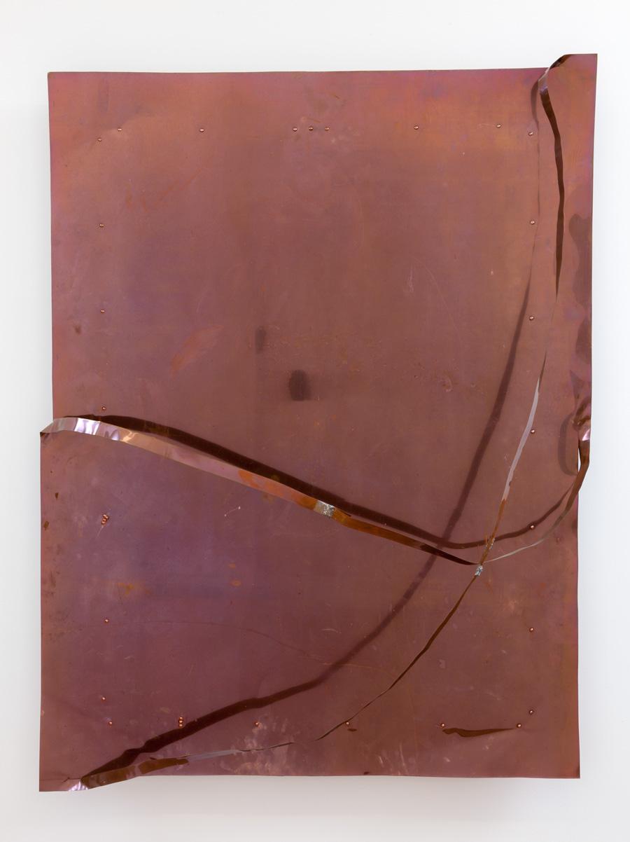Connecting Edges—Surrounding , 2004 辺をつなぐ—周合 ( Hen o Tsunagu—Shūgō ) Copper 46 7/8 x 35 x 7 7/8 inches 119 x 89 x 20 cm