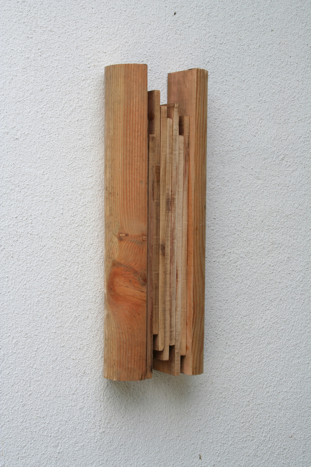 A Pair of Multiple Outlines V , 2007 復縁対 V ( Fukuentai V ) Wood 24 7/8 x 8 7/8 x 5 1/8 inches 63 x 22.5 x 13 cm