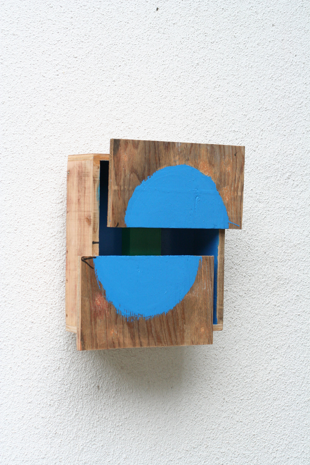 Corresponding Space , 2008 間化静合 ( Kanka Seigō ) Plywood, paint 13 x 14 x 5 1/2 inches 33 x 35.5 x 14 cm