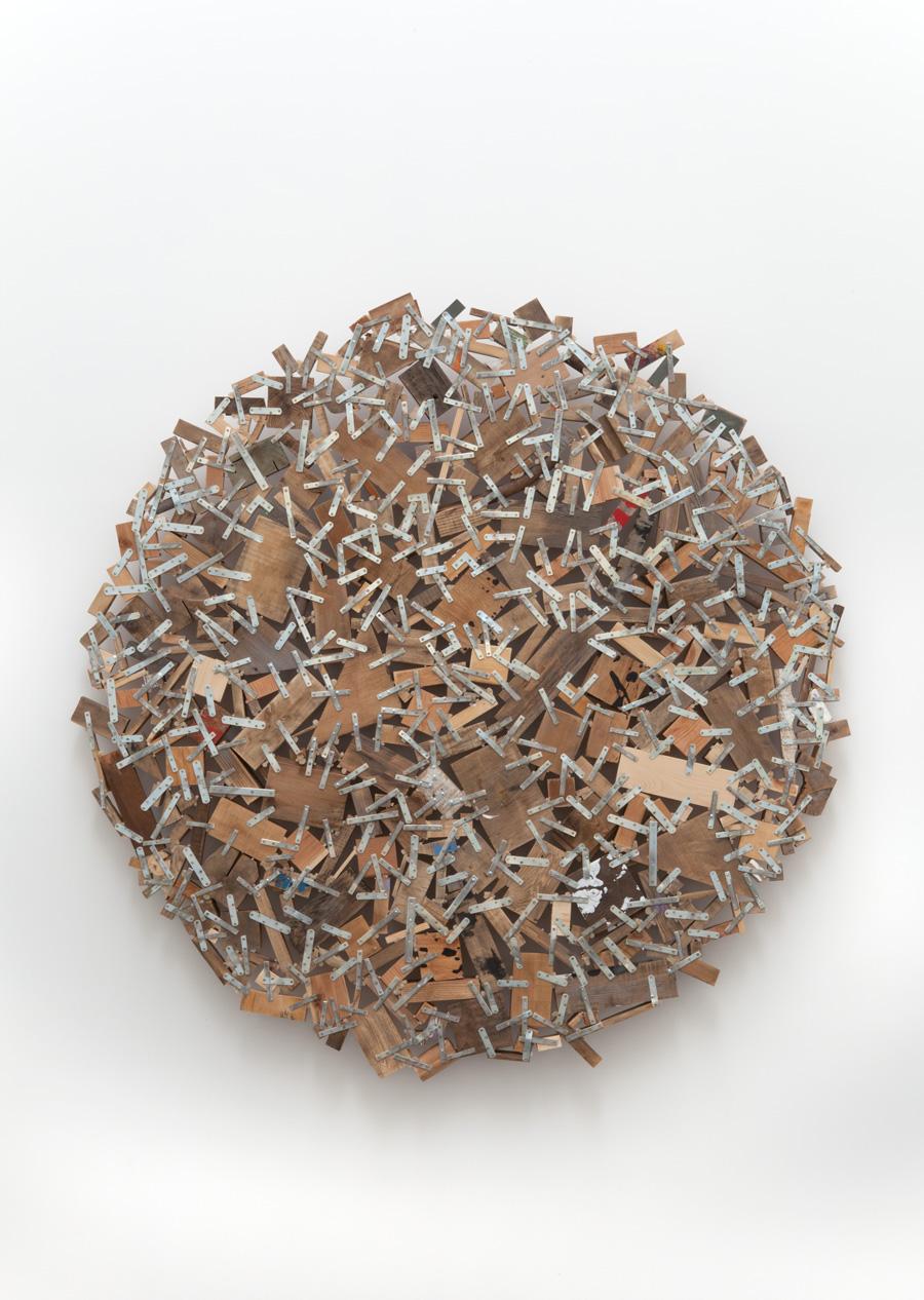 Circle of Accumulation , 2009 環集 ( Kanshū ) Wood, steel 70 7/8 x 70 7/8 x 5 1/8 inches 180 x 180 x 13 cm