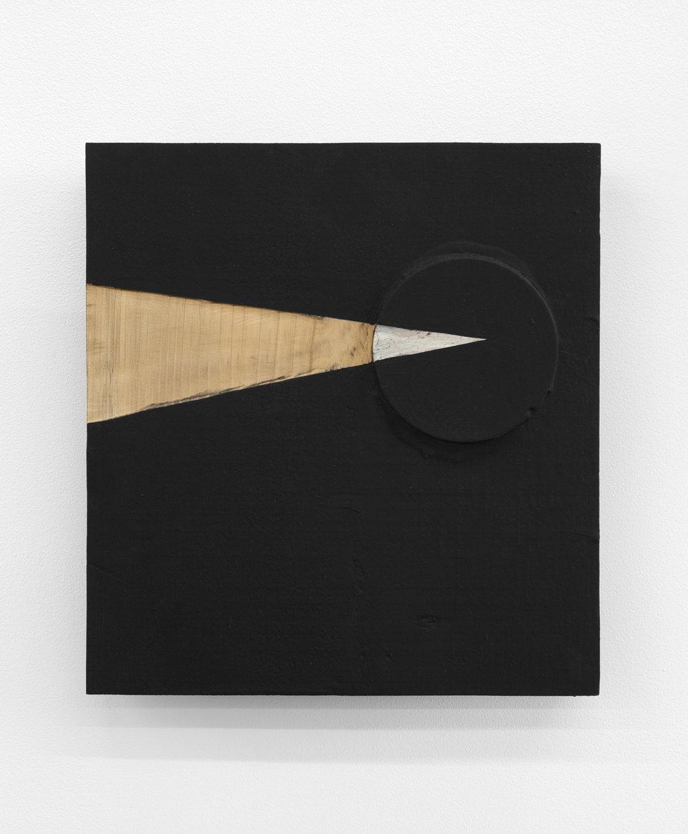 Order of Transparency , 2005 透構律 ( Tōkōritsu ) Wood, steel, water-based paint 11 7/8 x 11 x 2 1/2 inches 30 x 28 x 6.5 cm