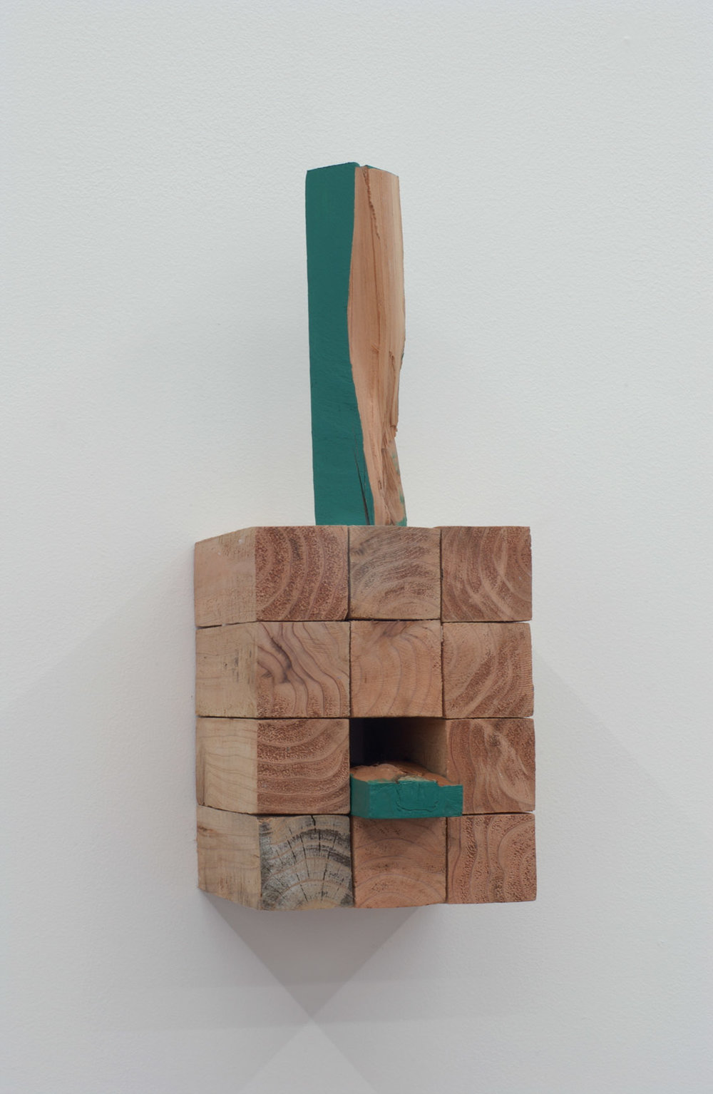 Polysemy , 2006 多義性 ( Tagisei ) Wood, water-based paint 14 1/8 x 5 3/8 x 5 7/8 inches 36 x 13.5 x 15 cm