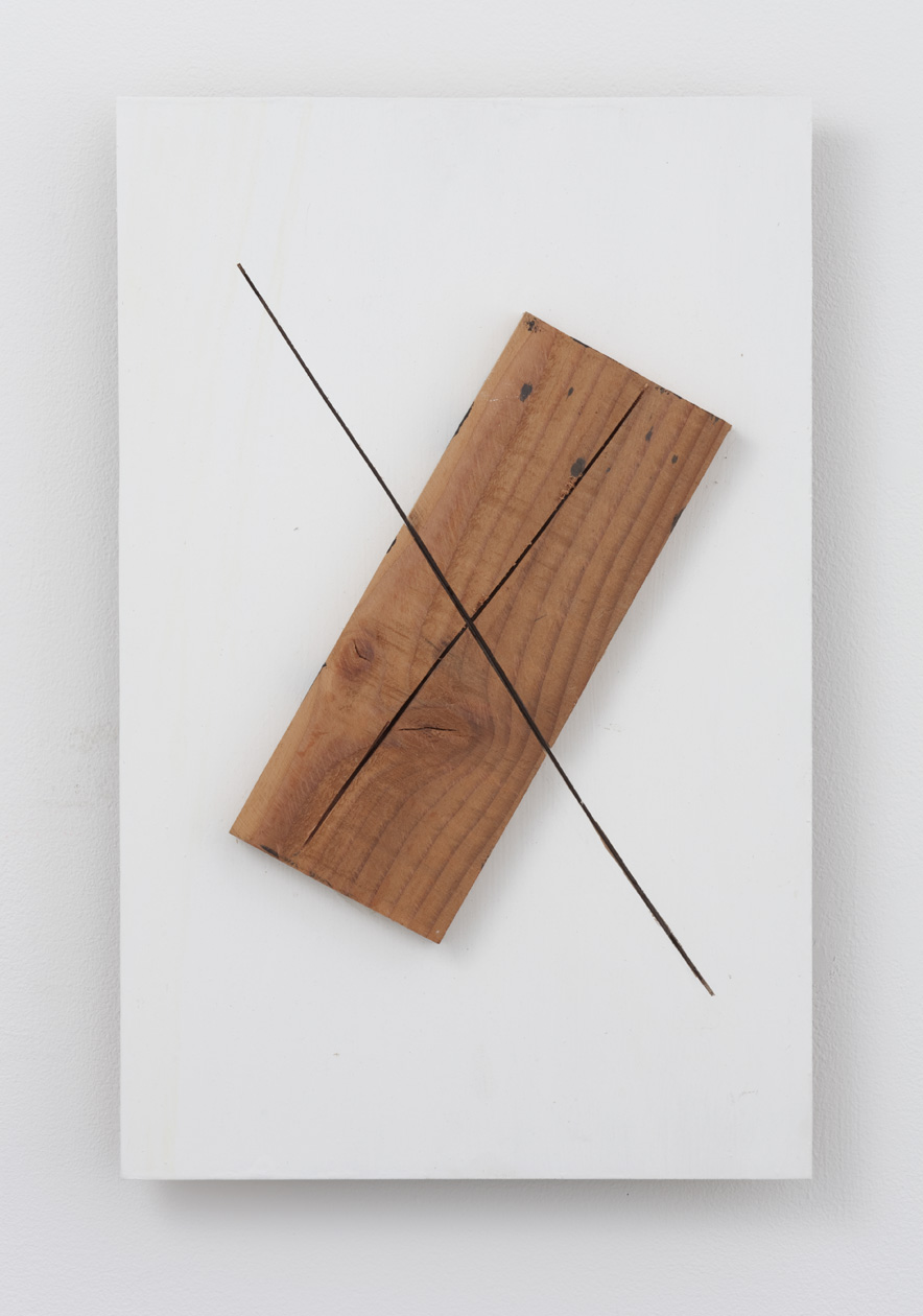 In the State of Shared Areas , 2011 Wood 19 5/8 x 12 5/8 x 1 3/4 inches 50 x 32 x 4.5 cm