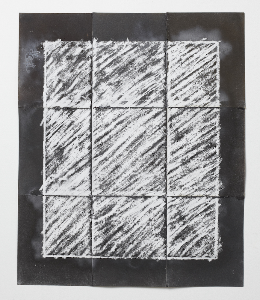 Situation of Boundary , 1971 Sandpaper, chalk 32 1/16 x 26 1/2 inches 81.5 x 67.5 cm