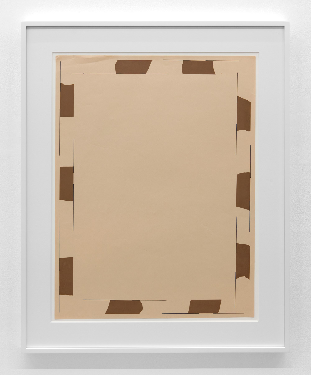 Phase of Dependence , 1975 Magic marker and vinyl tape on paper 28 1/4 x 21 3/8 inches  71.8 x 54.3 cm