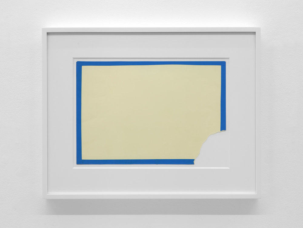 Lateral Space 274 , 1974 Vinyl tape on paper 11 x 15 7/8 inches 27.9 x 40.3 cm