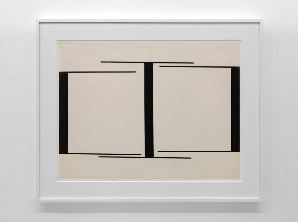 One Direction , 1975 Magic marker and vinyl tape on paper 21 1/2 x 28 3/8 inches  54.6 x 72.1 cm