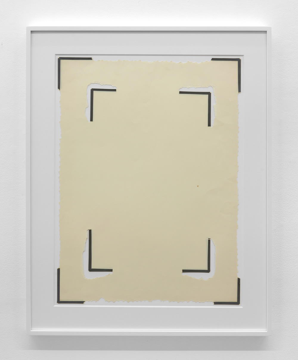 Dependent Space , 1974 Vinyl tape on paper 28 1/8 x 20 7/8 inches  71.4 x 53 cm