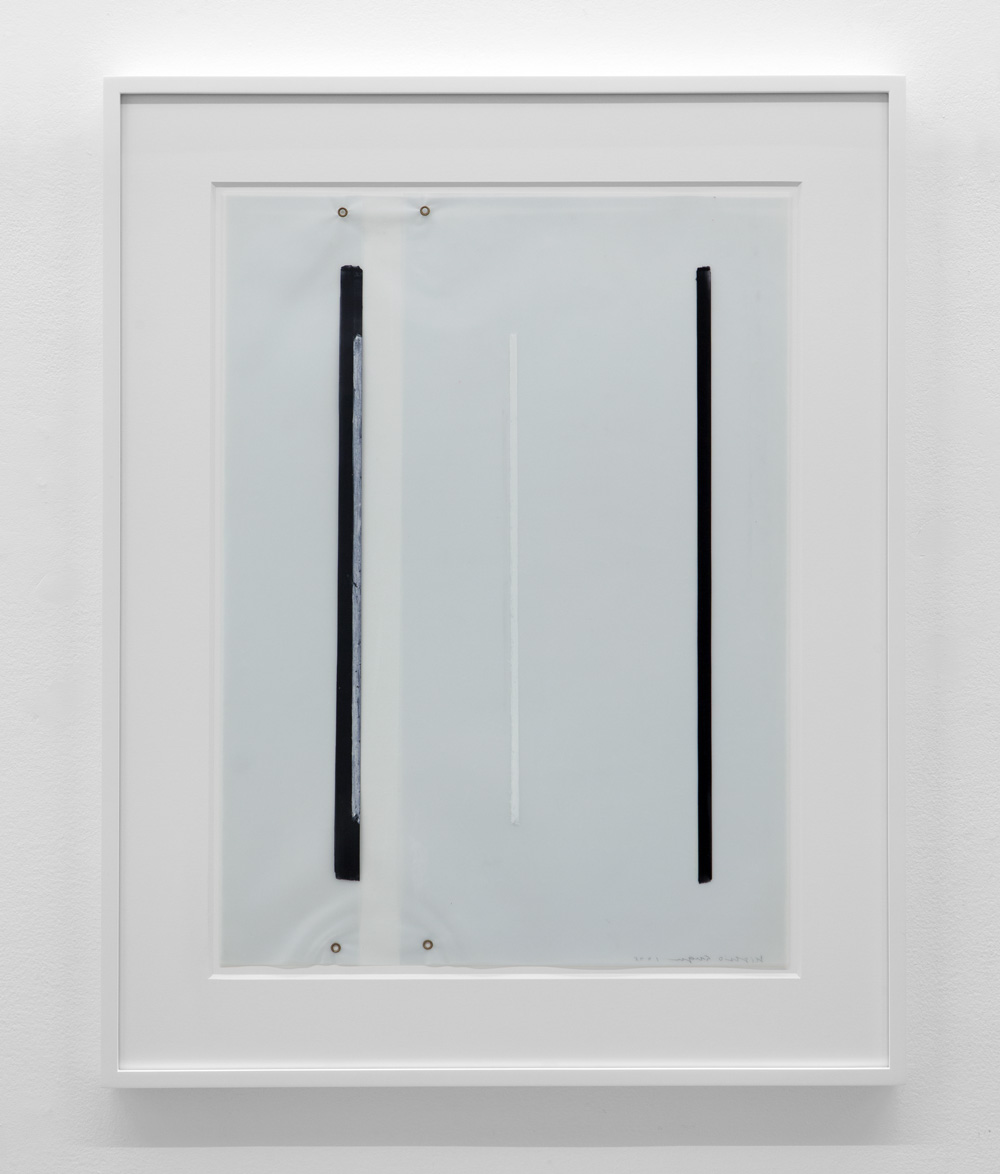 Untitled , 1975 Magic marker, pastel and metal on vellum 23 3/8 x 17 1/4 inches  59.4 x 43.8 cm