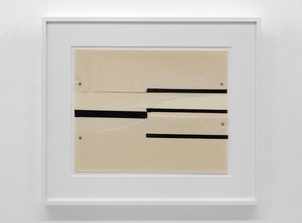 Untitled , 1974 Magic marker and metal on acetate 13 5/8 x 16 7/8 inches  34.6 x 42.9 cm