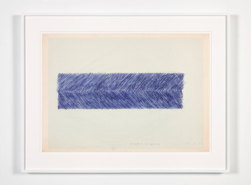 Quantity of Territory , 1976 Ball-point pen on paper 21 1/8 x 29 3/4 inches 53.7 x 75.6 cm