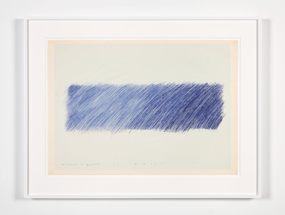 Quantity of Territory 380 , 1976 Ball-point pen on paper 21 1/8 x 29 3/4 inches 53.7 x 75.6 cm