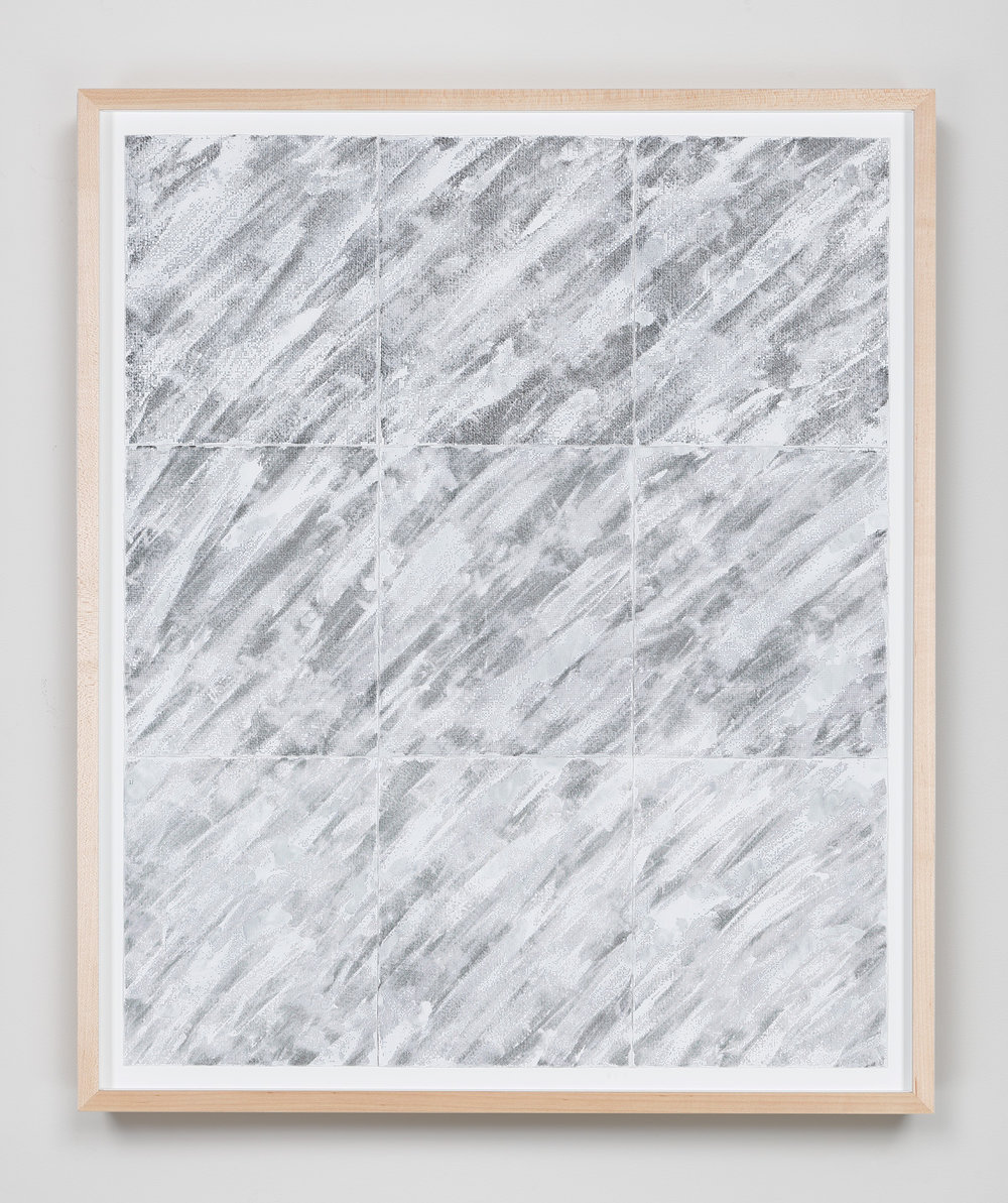 Concealed Light, Gathered Parameters , 2015 Abrasive mesh, paint 33 1/8 x 27 1/4 inches 84.1 x 69.2 centimeters