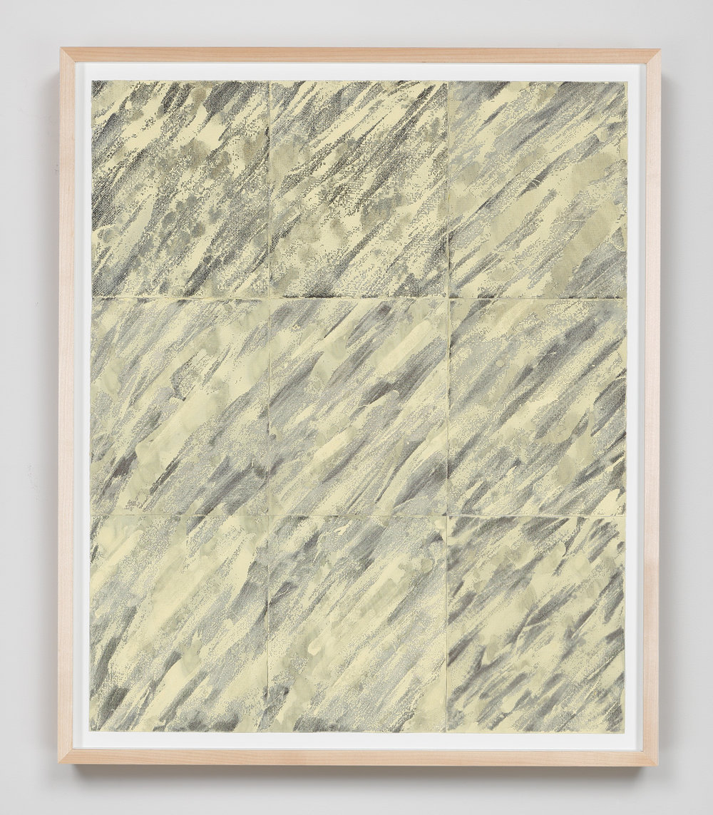 Latent Diagonals , 2015 Abrasive mesh, paint 33 1/8 x 27 1/4 inches 84.1 x 69.2 cm