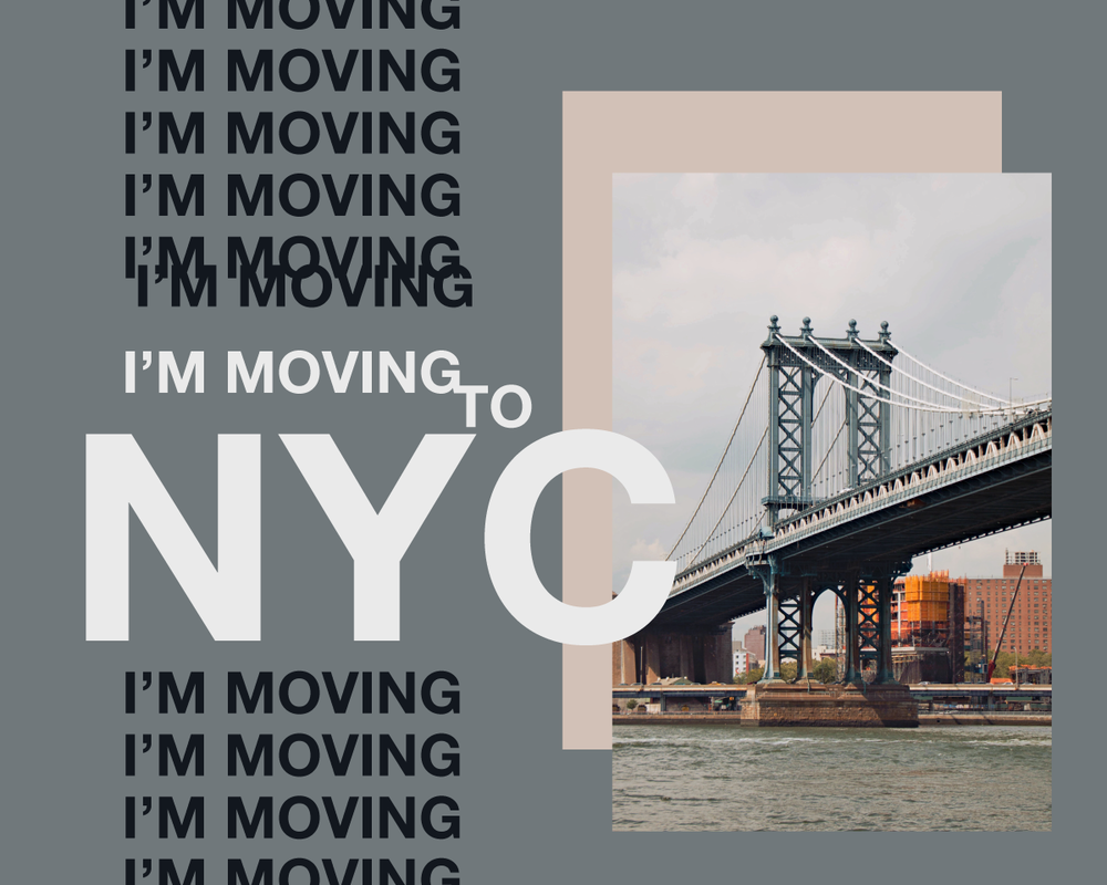 on sunday i move to manhattan for a portfolio-intensive graphic design program through the rest of the year!