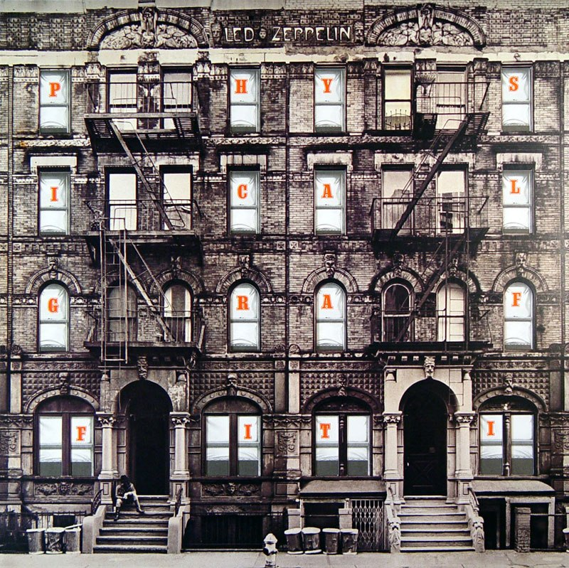 Image result for physical graffiti album cover art