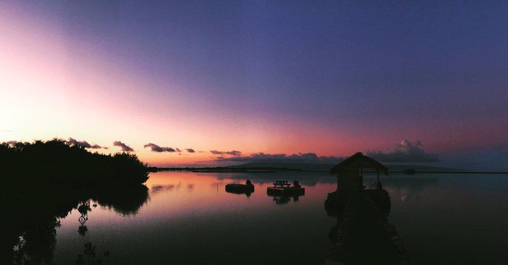 Keawanui Fish Pond Sunrise