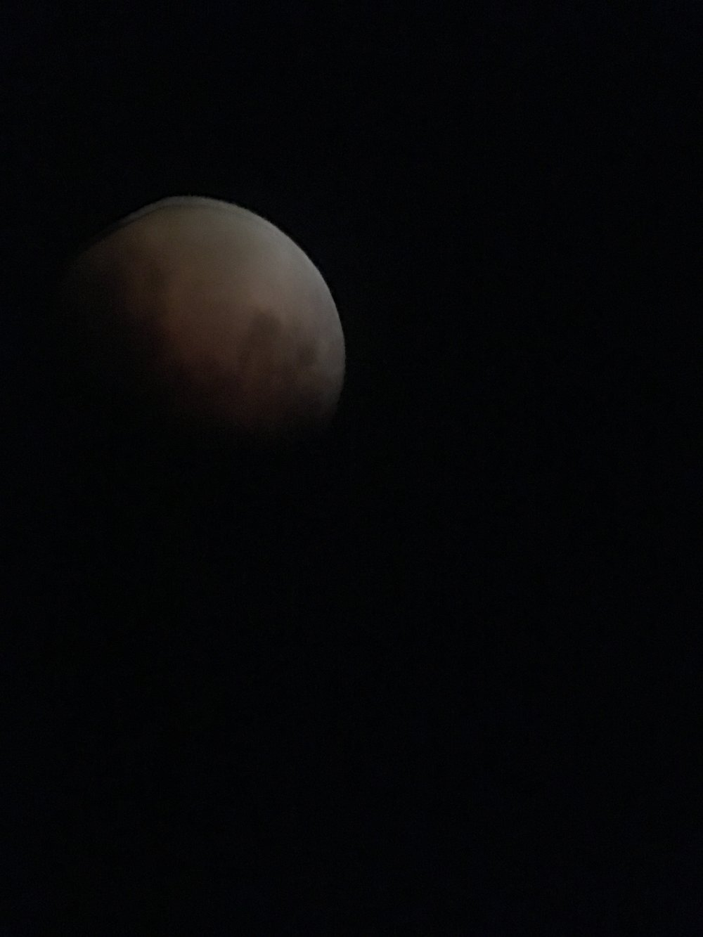 Alt-Text: Moon eclipse close up with black background.