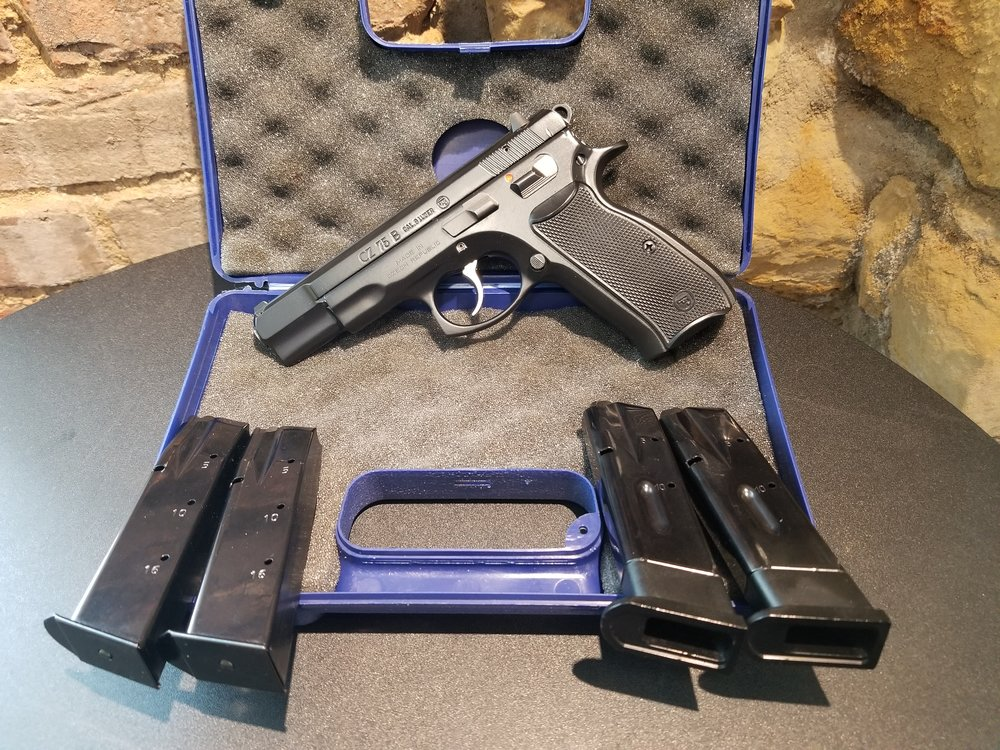 "This week we have some ""Leftovers"" as well as some ""Fresh"" new items. The used item we have up for sale is a very nice CZ 75B in 9mm. This pistol is very nice and comes with 2-10 round magazines and 2-16 round magazines as well as the hard case. Pistol is very well taken care of and is in very good condition. Price $399.99+tax"