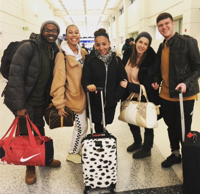 VCB Dancers Airport Detroit 2018 Tour.JPG