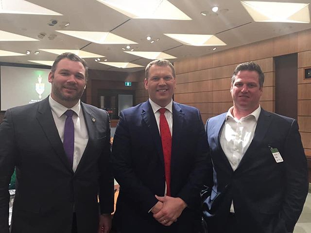 Great to meet former professional wrestler, Christopher Nowinski at the Sports-Related Concussions Committee last week. #bsom