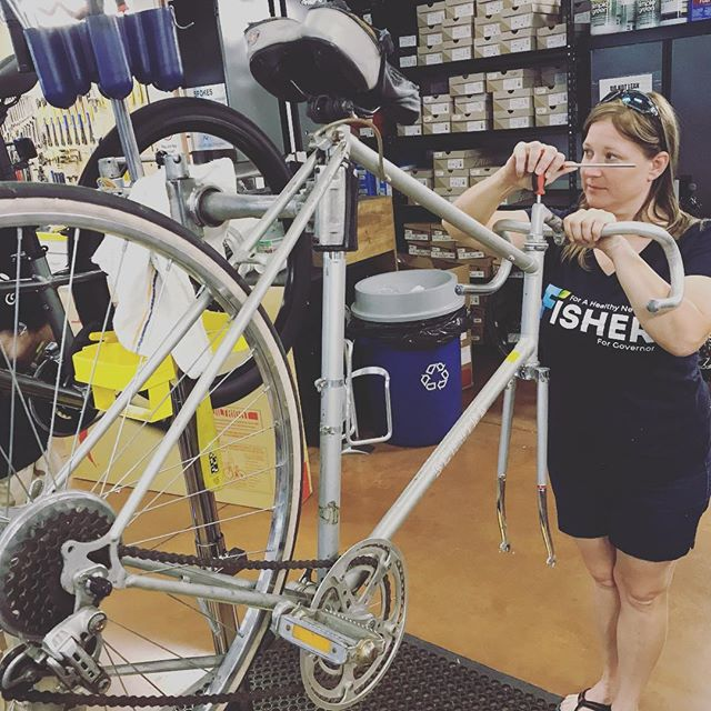 Ghost Bike prep for November 4th. We hate making more ghost bikes but we must amplify our actions and voices so motor vehicle drivers can stay alert. #nomoreghostbikes #lasvegas #cycling #cyclingshots #3ftforpete #ridesafe #bicycles #saferoads #sharetheroad #cyclingsafety #cyclingawareness #roads #community #communitysports #vegasstrong