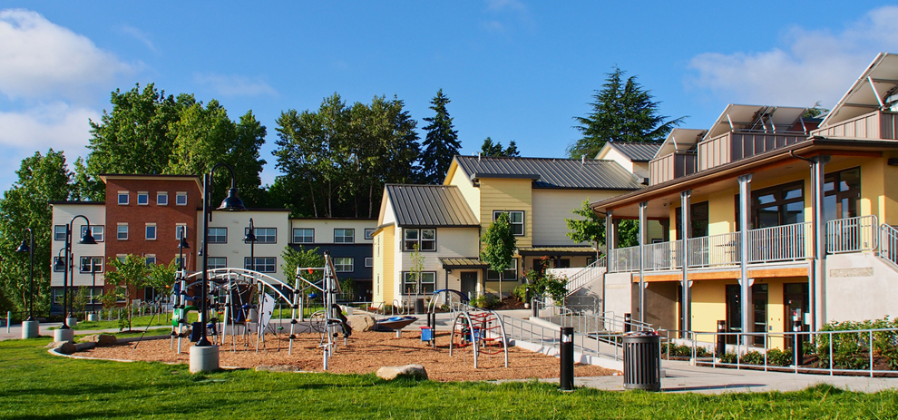 The playground at Brettler Place housing complex in Magnuson Park (Photo credit: Tonkin Architecture)