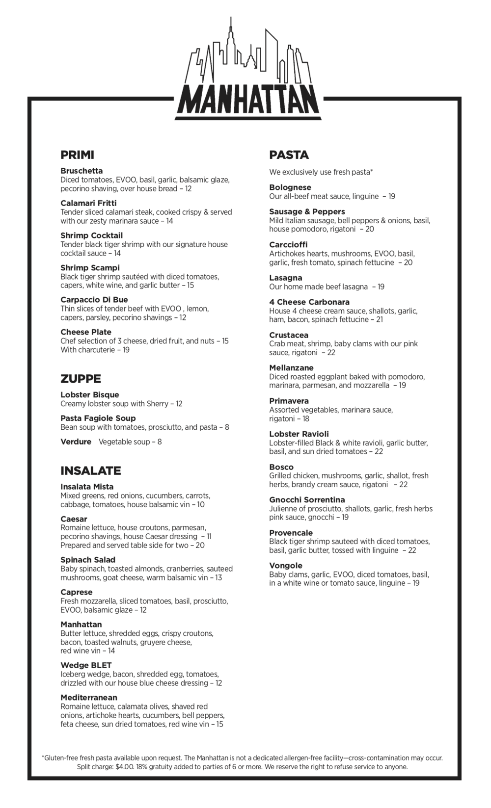 The Manhanttan of Camarillo Dinner Menu 6b.png
