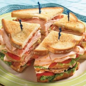 Turkey Club - $8.99   Ovengold Turkey, Vermont Cheddar Cheese, Bacon & Avocado on your choice of bread