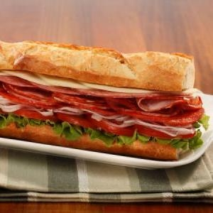 Italian Sub - $7.99   Mortadella, Genoa Salami, Bianco D'oro Salami, Hot Coppy & Provolone Cheese on a French Roll.
