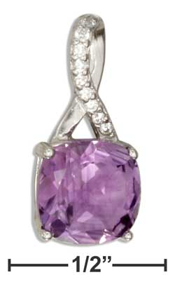 Sterling silver amethyst pendant we only sell jewelry sterling silver amethyst pendant mozeypictures Images