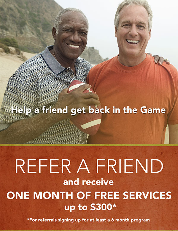 Refer a friend for a month of free services *
