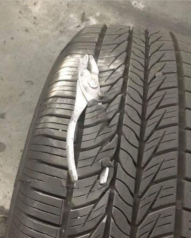 Looks like a new tire too!!!! The ToolBox Widget would of help prevent this and a mad boss/manager/customer, etc.  Add your email to www.ToolBoxWidget.com for updates and discount on product release in March 2018!! Help us spread the word and like us on Facebook too.  @Toolbox Widget  #ToolBoxWidget #Veteranownedbusiness #veteranbusiness #snapon #snapontools #matco #matcotools #gearwrench #craftsmantools #dewalttools #milwaukeetools #wrenchwednesday #toolboxtuesday #wrenches #sockets #pliers #toolbox #topdrawertuesday #dieseltech #aircraftmaintenance #toolorganization #automechanic #Tools #toolsofthetrade #Mechanic #Garage #Toolporn #Lowes #HomeDepot #AdvanceAutoPart