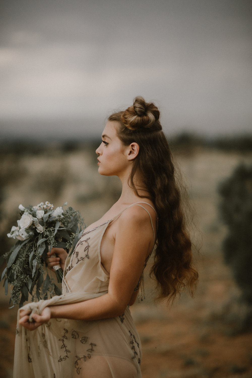 Editorial: New Mexico. Photographer: Blue Rose Studios. Model: Sophie Stroud.