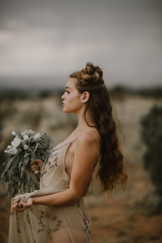 Editorial: New Mexico. Photographer: Blue Rose Studios. Model: Sophie Stroud.
