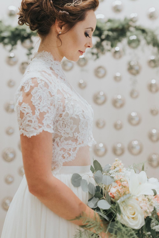 Styled Wedding. Hyatt Downtown, Albuquerque, NM. Blue Rose Photography. Model: Emilia Dzula.