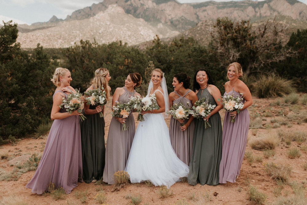 Real Wedding shot by Beth Wells in Albuquerque, New Mexico