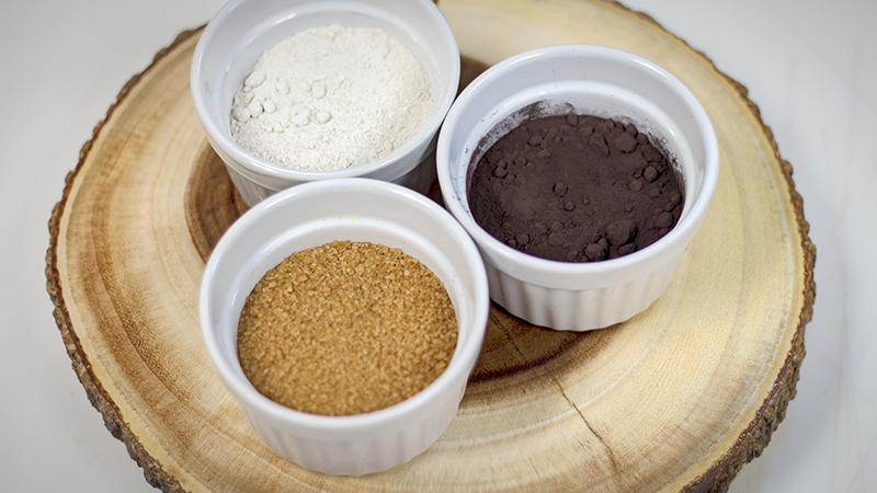 Rye Flour, Black Cocoa, Demerara Sugar