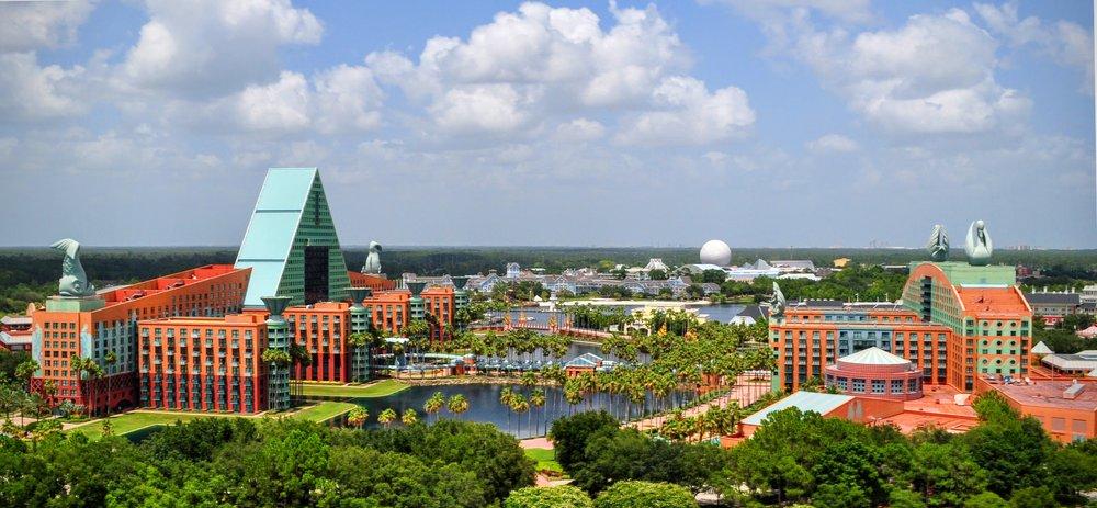 Dolphin Swan Hotel Orlando Aerial Phot