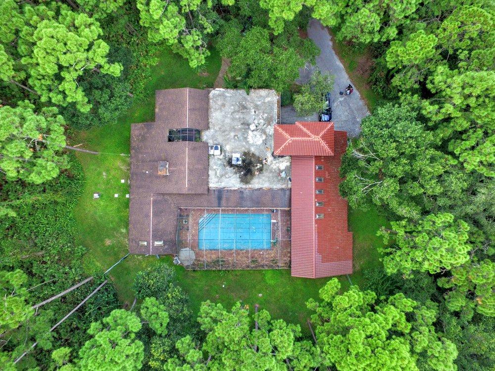 Jungle Home Aerial Photo