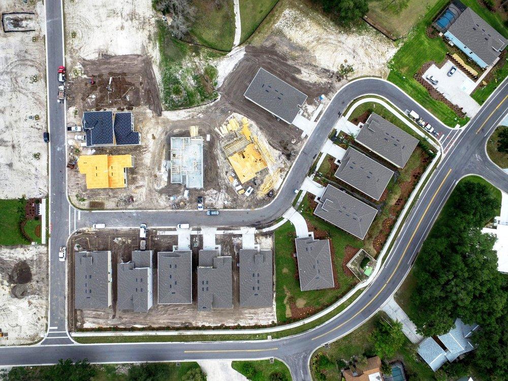 Sarasota Bent Tree Construction Aerial Photo