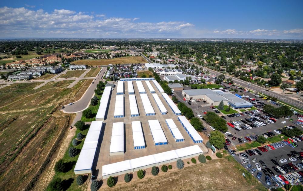 Storage Unit Aerial Photo