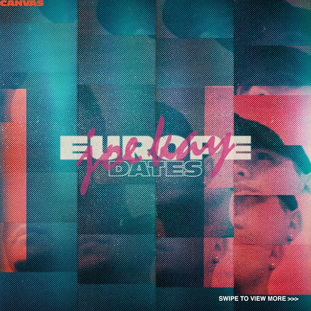 Back in June, we designed the tour dates poster and a short motion-graphic video for Joe Kay's Europe Tour. Full on retro vibes with this one.