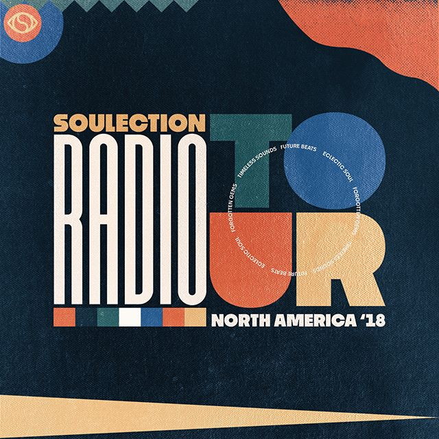 Tour branding design services for @soulection — Soulection Radio North American Tour 2018 with @joekay
